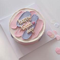 Sweet Cakes, Cute Cakes, Pretty Cakes, Beautiful Cakes, Cake Cookies, Cupcake Cakes, Korean Cake, Think Food, Cake Decorating Techniques