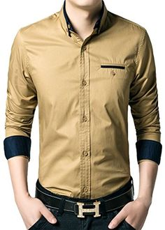 APTRO Men's Cotton Blend Business Slim Casual Long Sleeve Dress Shirt #11 Khaki US XS(Tag L) APTRO http://www.amazon.com/dp/B0195WB2GO/ref=cm_sw_r_pi_dp_5-JAwb05FXDR9
