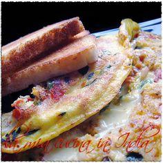La mia cucina in India: Masala omelet, la frittatina indiana per un breakf...