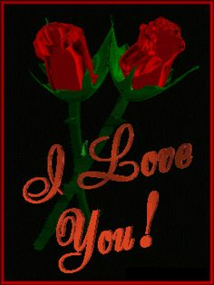 I Love You Dancing Roses Graphic