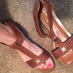 4f04279fd0f1 Skechers zip back leather sandals Hardly worn (twice)