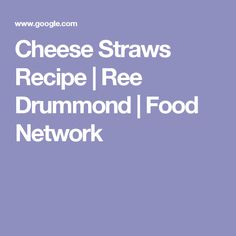 Cheese Straws Recipe | Ree Drummond | Food Network