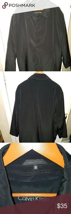 Men's dress coat Great dress coat for the fall season. Barely worn. Calvin Klein Jackets & Coats Trench Coats