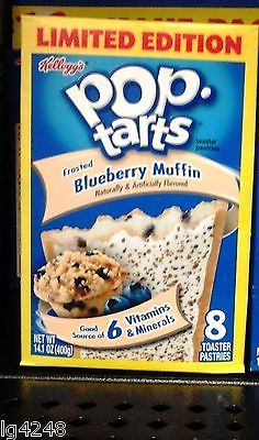 LIMITED EDITION Kellogg's Pop Tarts Frosted Pastries Blueberry Muffin 8ct