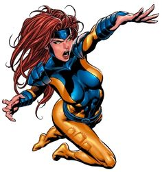 Jean Grey (1990's)....i still love the 90's look for all the characters, that's where i really fell in love with x-men. http://m-heroes.com/