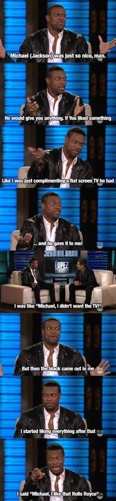 But then the black came out in me... haha i love Chris tucker