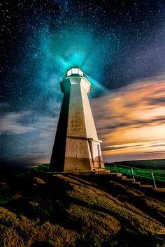 Star Light at Cape Spear #newfoundland