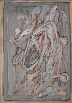 Jacques Doucet (1924-1994) was een Frans kunstschilder. In de Tweede Wereldoorlog was Doucet een politiek gevangene. Deze ervaring had een grote invloed op zijn latere werk. Na de oorlog ontmoette hij Corneille in Boedapest. Corneillle introduceerde hem in de Experimentele Groep in Holland. Na lid te zijn geworden van Le Surréalisme Révolutionnaire, sloot hij zich in 1948 aan bij de Cobra-beweging.
