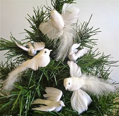 artificial bird dove set flying christmas decoration 5 45 - Bird Christmas Tree Decorations