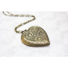 heart locket necklace – Etsy ❤ liked on Polyvore featuring jewelry, necklaces, locket necklace, locket jewelry, heart locket necklace, heart shaped jewelry and vintage jewellery
