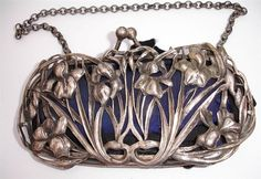 William Coymns 1904 - splendid silver art nouveau iris purse/bag - sold for approximate $360 on ebay January 2015