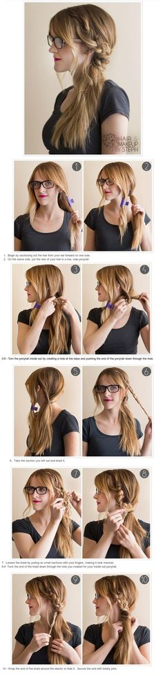 Great lazy day hairstyle for those school days when you wake up late and you're running out of time.