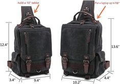 Discreet Men Cowhide Genuine Leather Sling Chest Bag Cross Body Messenger Shoulder Travel Rucksack Vintage Retro Fashion Chest Day Pack Factories And Mines Men's Bags Crossbody Bags