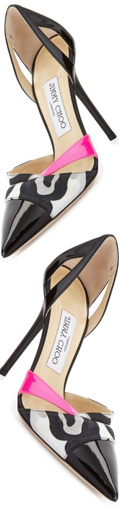 Trendy High Heels For Ladies : Jimmy Choo Marcine Patent d'Orsay Pump Black/Raspberry Stilettos, Pumps, Stiletto Heels, Hot Shoes, Crazy Shoes, Me Too Shoes, Pretty Shoes, Beautiful Shoes, Zapatos Shoes