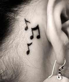 hmm.. These notes but in a different location.  I want it on my finger or maybe my wrist.