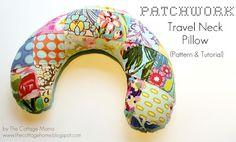 Ajudante da Arte: Patchwork Almofada cervical Viagem