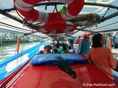 Im Bangkok Linienboot auf einer Wasserstrasse Bangkok, Thai Recipes, Wrestling, Adventure, Lucha Libre, Thai Food Recipes