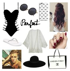 """""""Perfect Togheter ❣"""" by vivi-oliveira21 ❤ liked on Polyvore featuring Agent Provocateur, Justin Bieber, Reef, Calypso St. Barth, Chanel and Maison Michel"""