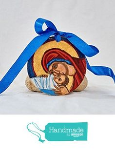 Handpainted Christmas ornaments- Byzantine Nativity of Christ miniature icon from Angelicon http://www.amazon.com/dp/B0168EIXY6/ref=hnd_sw_r_pi_dp_-UHhwb0H2NRVT #handmadeatamazon