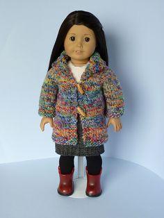 "Ravelry: Shawl Cardi fits 18"" American Girl Dolls pattern by Janice Helge"