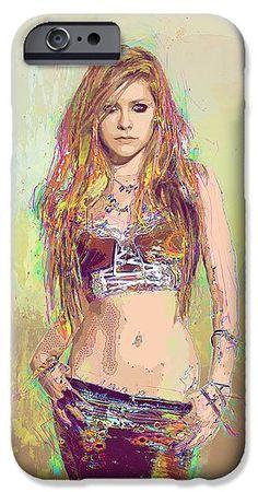 Avril Lavigne IPhone 6s Case featuring the digital art Avril Lavigne by Elena Kosvincheva