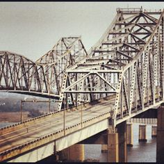 Flashback Friday photo! Who remembers the old bridges in Charleston? Photo by explorecharleston