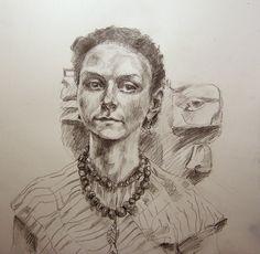 https://flic.kr/p/caM9SS | irena romendik for jkpp | pencil, about  10 by 10 www.flickr.com/groups/portraitparty/discuss/7215762417730...
