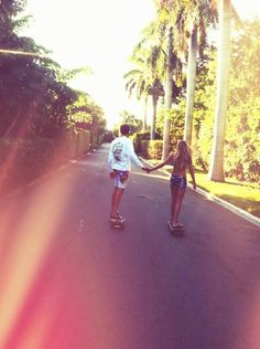This is love if ever i saw it skateboarding couples, lovey dovey, our love Love Is In The Air, Just For You, Skateboarding Couples, Skater Couple, Skater Boys, Young Love, Hopeless Romantic, Summer Of Love, Pink Summer