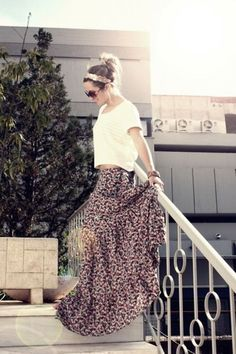 Love long skirts...