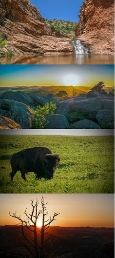 These stunning shots from photographer Lance Kenyon show the rugged beauty of the Wichita Mountains Wildlife Refuge in western Oklahoma and why it's such a popular travel destination.