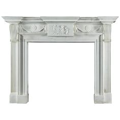 Very Fine Late Georgian Antique Fireplace Mantel Carved in Statuary Marble | From a unique collection of antique and modern fireplaces and mantels at https://www.1stdibs.com/furniture/building-garden/fireplaces-mantels/