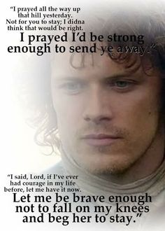 Awesome Jamie quote from the book that didn't make it into the show.