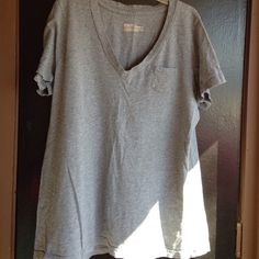 Grey shirt T shirt with pocket Mossimo Supply Co Tops Tees - Short Sleeve