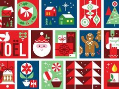 Holiday Mail Stickers - Stamps Detail by Eight Hour Day