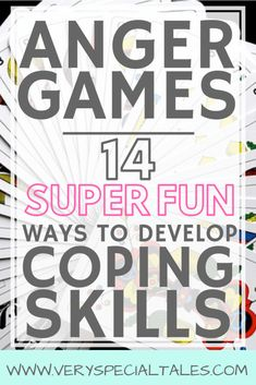 Anger Games: 14 Super Fun Ways to Learn Anger Management Skills - Very Special Tales - Emotional Regulation: Anger games are a great resource to help kids develop coping skills and emoti - Group Therapy Activities, Counseling Activities, Group Counseling, Group Activities For Adults, Counseling Teens, Child Development Activities, Toddler Development, Family Activities, Toddler Activities