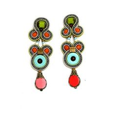 Casual never looked so pretty ❤️#Doricsenger #casual #orange #turquoise #earrings #Jewelry #accessories