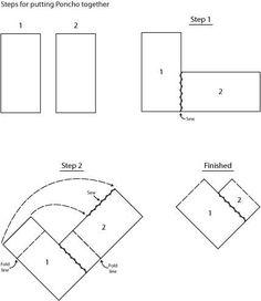 easy poncho pattern:                                                       …