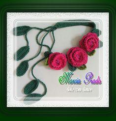 Márcia Prado ♥ Arte com Amor ♥: Coleira Três Rosas