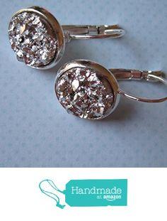 Silver-Tone Leverback Drop Earrings 12mm Faux Druzy Stone from Summerfield Collection http://www.amazon.com/dp/B018WF5EDC/ref=hnd_sw_r_pi_dp_3Mb5wb0GKF657 #handmadeatamazon