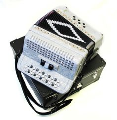 New Bonetti Button Accordion White 3 Switch Diatonic GCF w/Case & Straps - http://musical-instruments.goshoppins.com/accordion-concertina/new-bonetti-button-accordion-white-3-switch-diatonic-gcf-wcase-straps/