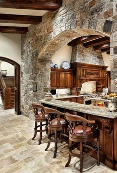 Stone kitchen design Oh my!!!