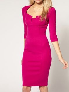 Elegant Blended Pure Bodycon-dress Bodycon Dress from fashionmia.com