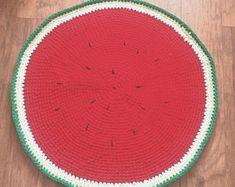 alfombra trapillo tshirt yarn rug cotton rug por LoreleiLore