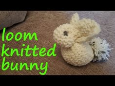 Loom Knitted Bunny - YouTube