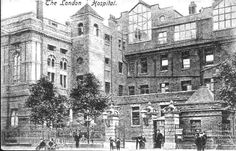 The London Hospital. Victorian London, Vintage London, Old London, London Pictures, Old Pictures, Old Photos, London History, British History, History Of Nursing