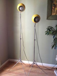 Vintage Mod Panton Eames Era Chrome Metal Eyeball Floor Lamp ...