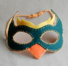 Felt Bird Mask(s) Patterns - pdf - for Halloween, costume parties, dress up and role playing
