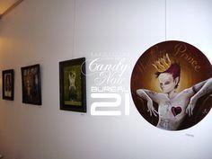 Expo Candy Noir, by Ludovic Sallé. Galerie Bureau 21.