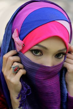 colourful niqab