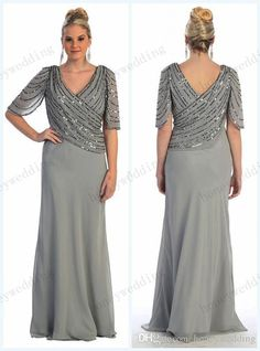 2018 Plus Size Mother Of The Bride Dresses V Neck Sequins Half Sleeves Evening Party Gowns Long Chiffon Wedding Guest Dress Mother Of Bride Dresses Canada Mother Of The Bride Dress Patterns From Loved Summer Mother Of The Bride Dresses, Mother Of The Bride Plus Size, Mother Of Groom Dresses, Mothers Dresses, Summer Dresses, Mother Of The Bride Fashion, Mob Dresses, Trendy Dresses, Bridesmaid Dresses